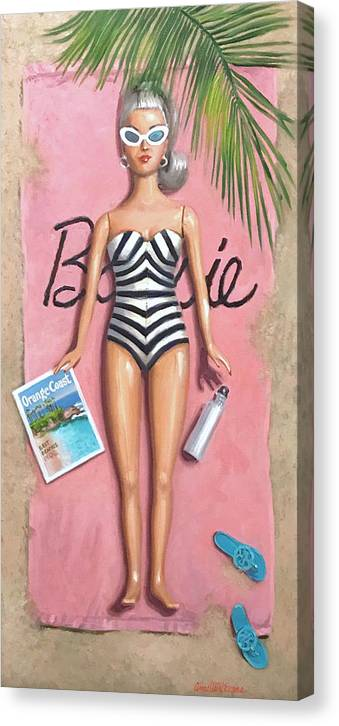 Barbie @ 60 #1 - Canvas Print