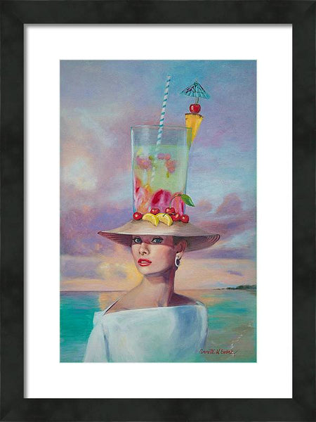 Cocktails @ Tiffany's - Framed Print