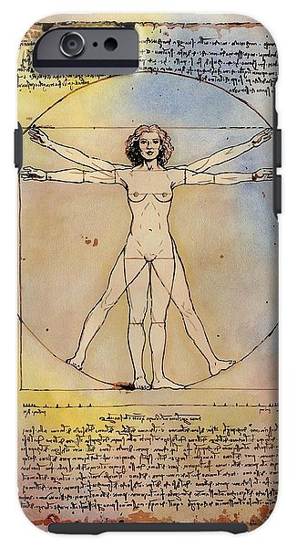 Vitruvian Woman - Phone Case