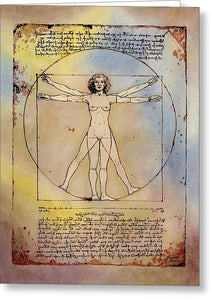 Vitruvian Woman - Greeting Card