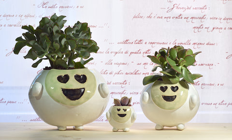 Smiling Pot | Green | Love
