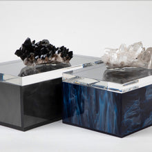 Load image into Gallery viewer, SMOKY BLACK LUMINOUS ACRYLIC MARBLE BOX