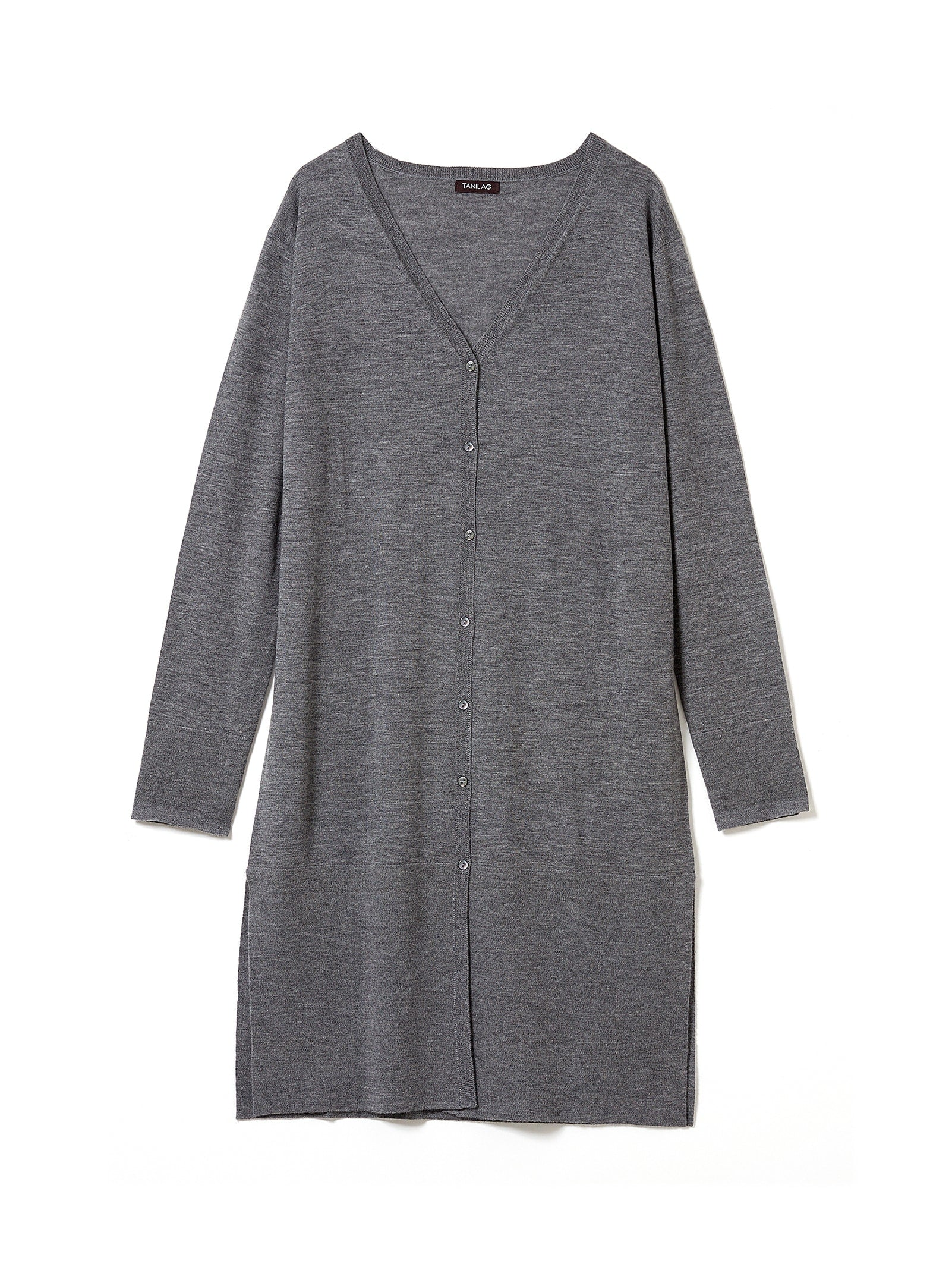 FINE GAUGE CASHMERE V-LONG CARDIGAN