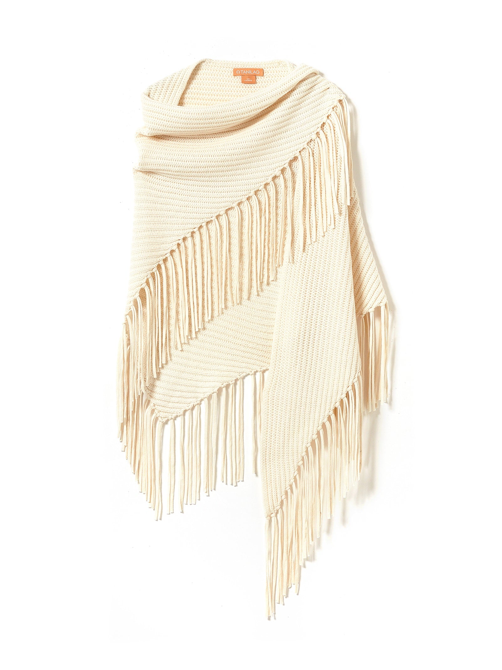 LOW GAUGE FRINGE SHAWL NATURAL