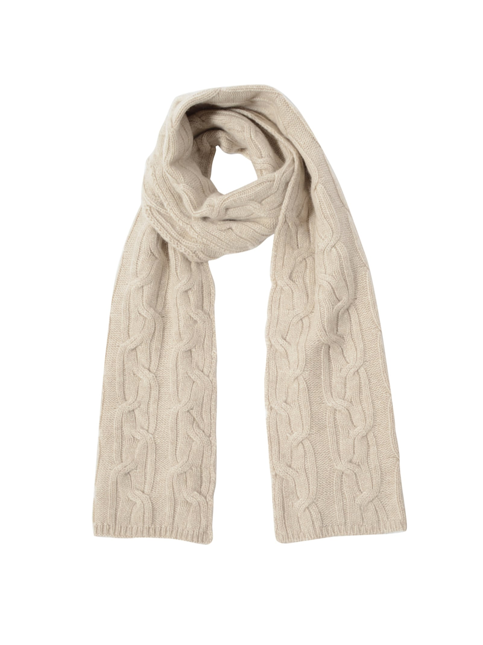 LOW GAUGE CABLE SCARF NATURAL