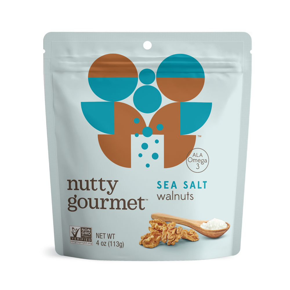 Load image into Gallery viewer, Sea Salt Walnuts - 4 oz. Pouch