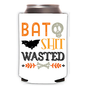 Bat Shit Wasted Can Cooler