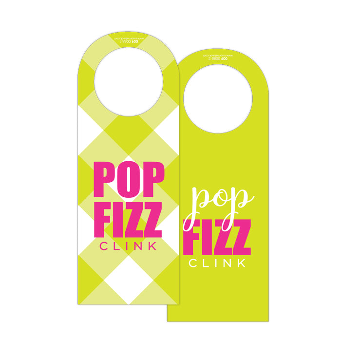 Pop Fizz Clink Wine Tag