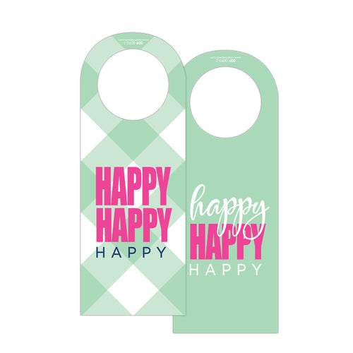 Happy Happy Happy Wine Tag