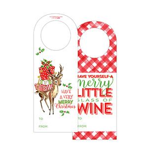 Have A Very Merry Christmas Wine Tag