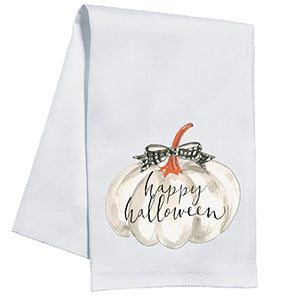 Happy Halloween White Gourd and Web Kitchen Towel