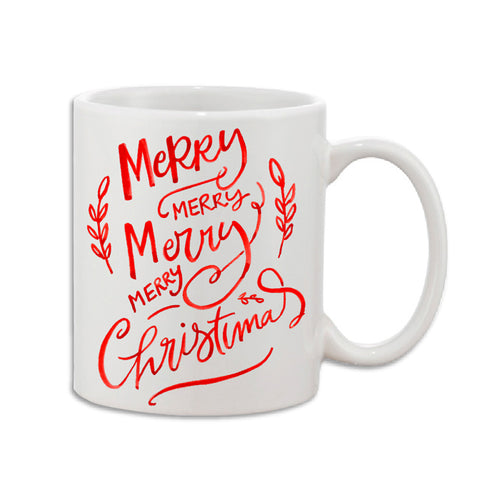 Merry Merry Merry Christmas Coffee Mug