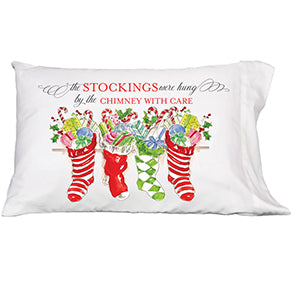 The Stockings Were Hung Pillowcase