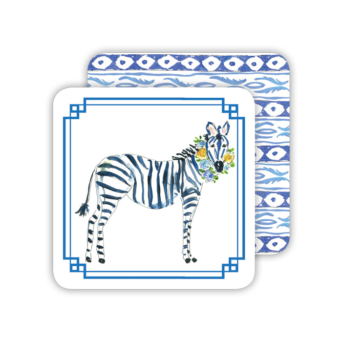 Blue Zebra Coaster