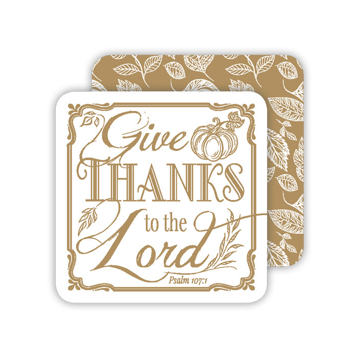 Give Thanks To The Lord Paper Coaster