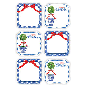 Christmas Topiary Die-Cut Stickers