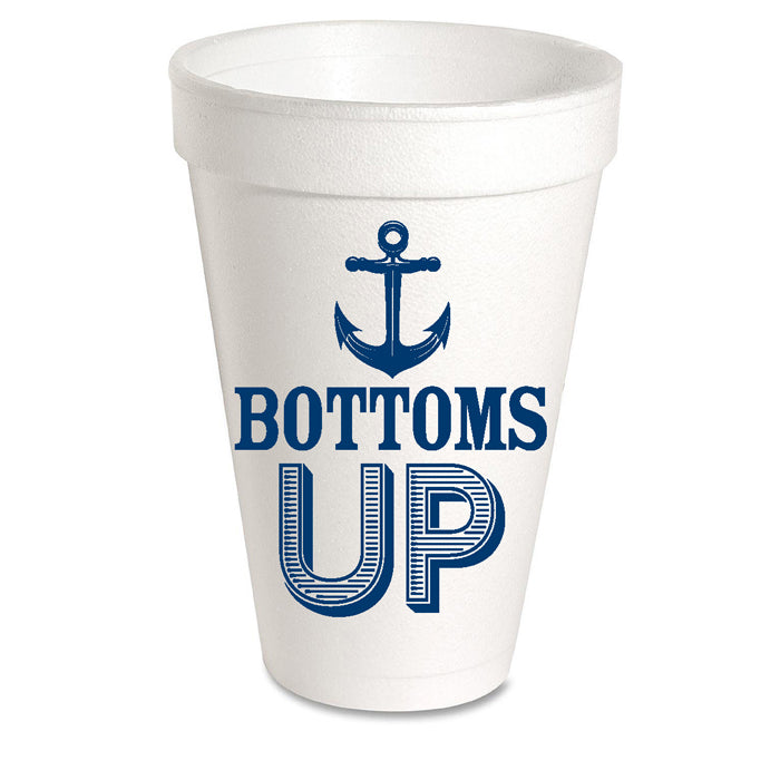 Bottoms Up Styrofoam Cup