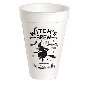 Halloween Witch's Brew It's Wickedly Good Styrofoam Cup