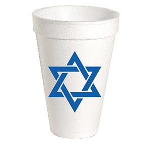 Star of David Styrofoam Cup