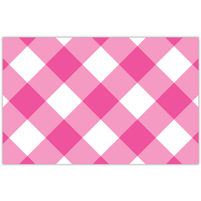 Hot Pink Buffalo Check Placemat