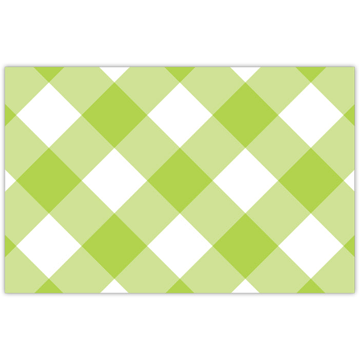Lime Buffalo Check Placemat