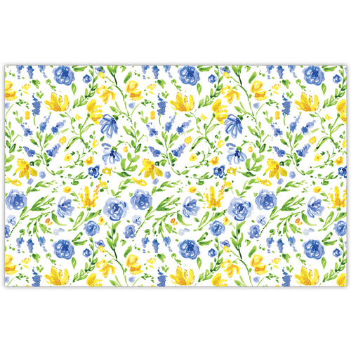 Blue and Yellow Floral Placemats