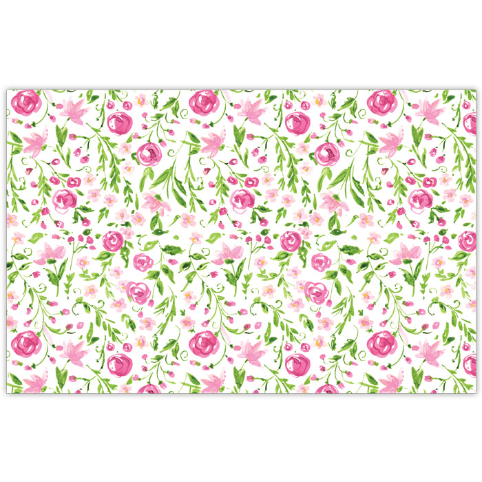 Green and Pink Floral Placemat