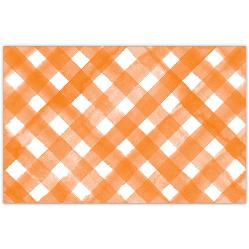 Orange Buffalo Check Placemat