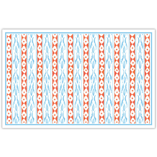 Two Orange and Blue Design Placemat