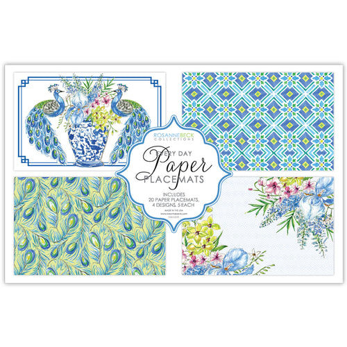 Handpainted Peacocks and Tiles Placemat