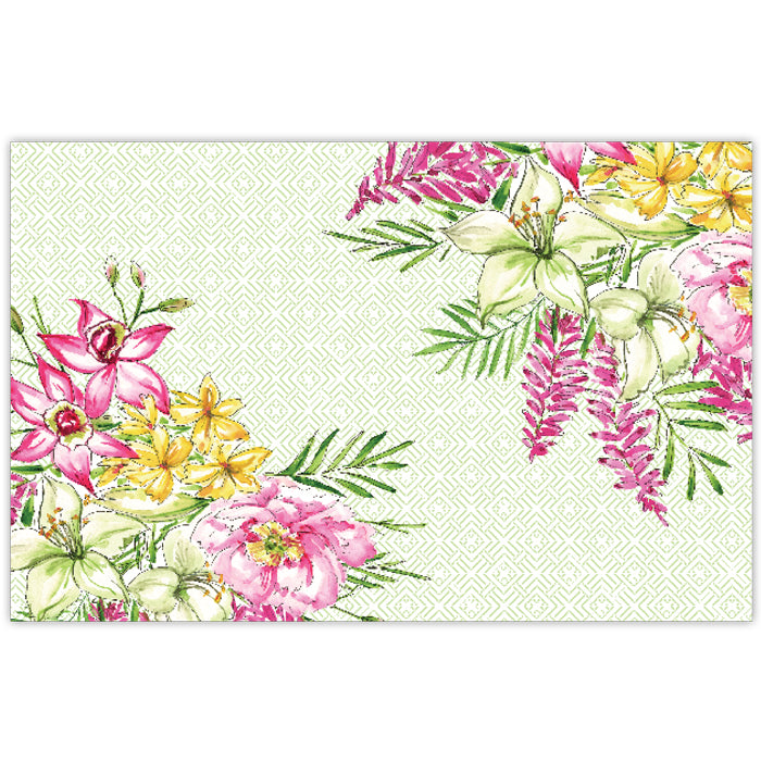 Handpainted Lillies and Peonies Placemat