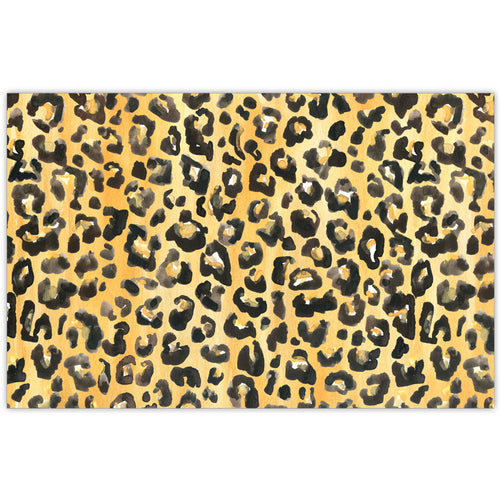 Handpainted Cheetah Print Placemat