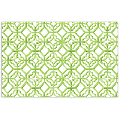 Handpainted Tiles Lime Placemat