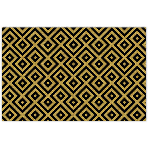 Black And Gold Graphic Design Placemat