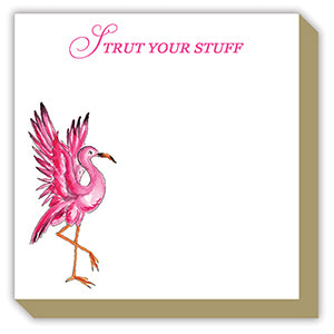 Strut Your Stuff Flamingo Luxe Notepad