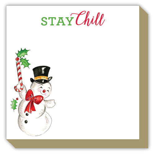 Stay Chill Handpainted Snowman Luxe Pad