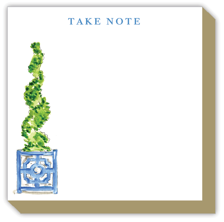 Take Note Spiral Topiary Luxe Notepad