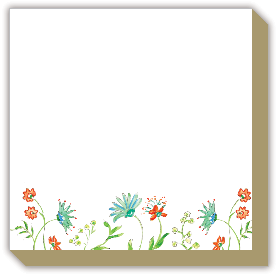 Mixed Floral Seafoam Luxe Notepad