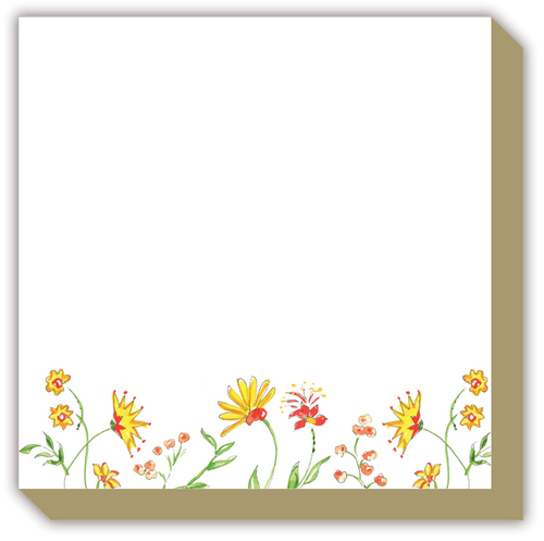 Mixed Floral Yellow Luxe Notepad