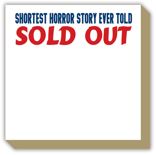 Shortest Horror Story Ever Told Sold Out Luxe Notepad