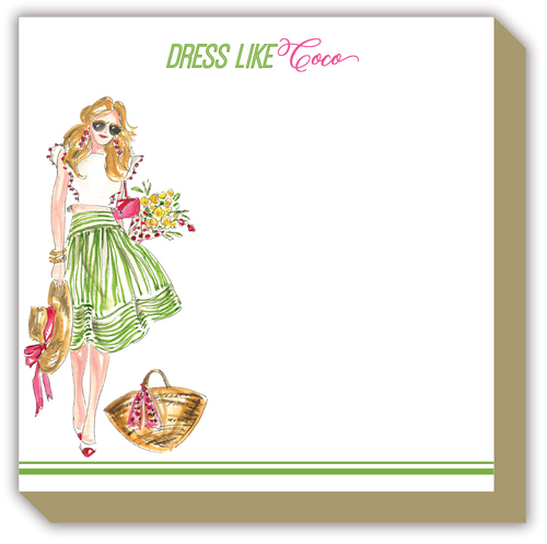 Dress Like Coco Fashionista Luxe Notepad