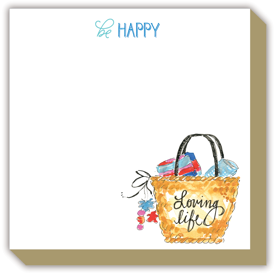 Be Happy Fashionista Luxe Notepad