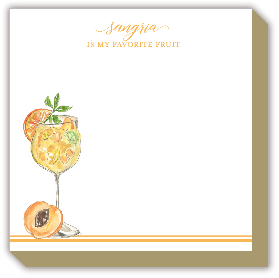 Sangria Is My Favorite Fruit Luxe Notepad