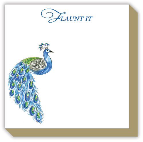 Flaunt It Peacock Luxe Notepad