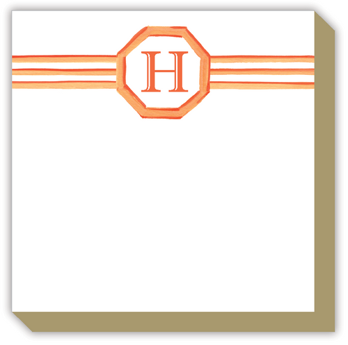 Lattice Monogram H Luxe Notepad