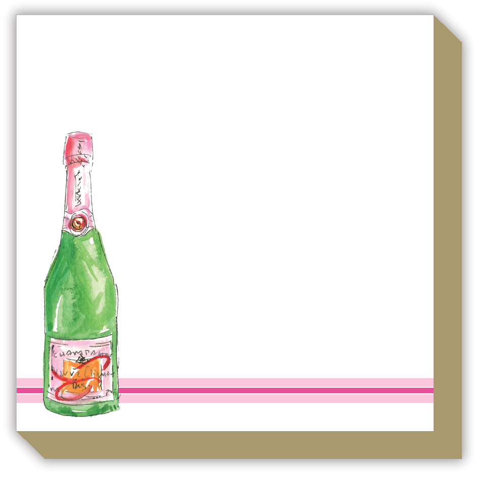 Champagne Bottle Luxe Notepad