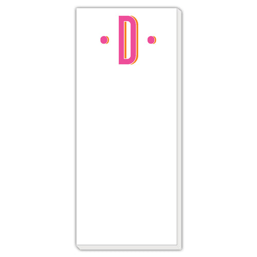 Color Block Monogram D Skinny Notepad