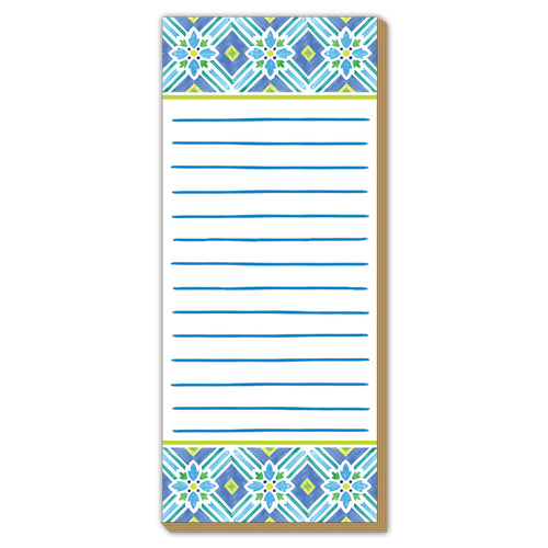 Blue and Green Tile Luxe Skinny Pad