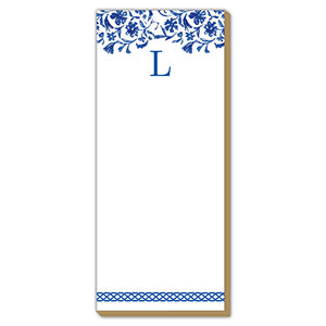Blue and White Monogram L Luxe Skinny Pad
