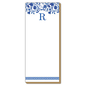 Blue and White Monogram R Luxe Skinny Pad